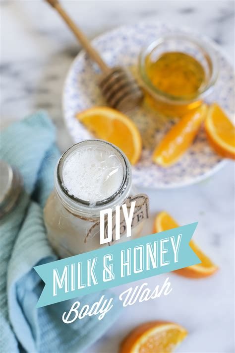 diy wash diy milk and honey wash live simply