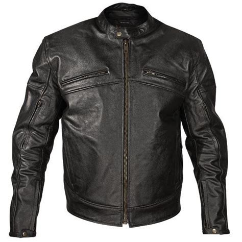 armored leather motorcycle jacket xelement armored mens black leather motorcycle jacket size