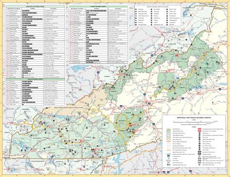 carolina forest trail map pisgah national forest and nantahala national forest map