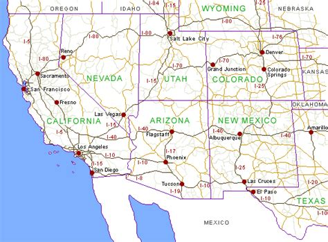 road map of western usa history and culture a 2012 2013 the southwestern us
