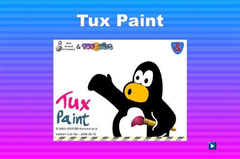tux paint to play tux paint