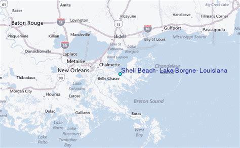 louisiana map beaches shell lake borgne louisiana tide station location
