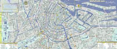 Amsterdam top tourist attractions map 01 city centre detailed street
