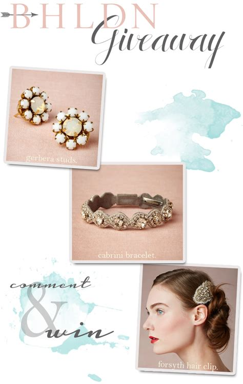 Bhldn Giveaway - win a vintage styled bridal accessory from bhldn wedding day giveaways