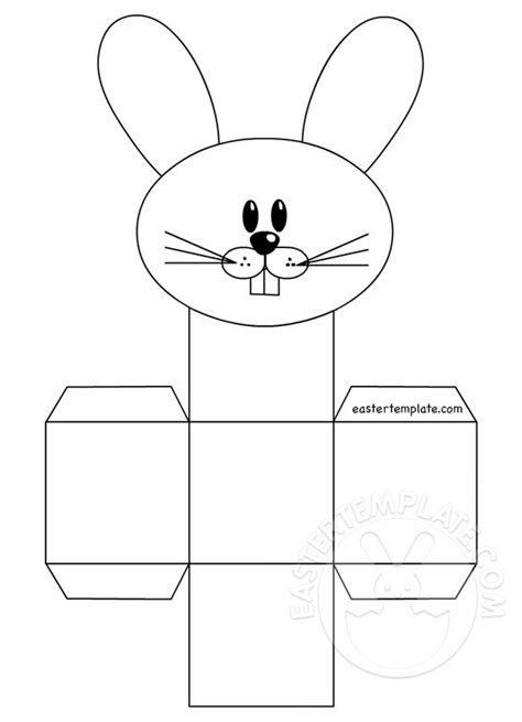 free printable easter baskets templates print the rabbit box template easter template