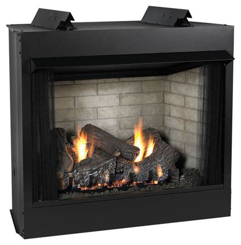 Small Indoor Gas Fireplace Premium 36 Quot Vent Free See Thru Mv Fireplace Modern
