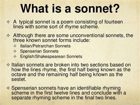 sonnet sections shakespeare s sonnets