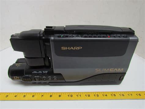 sharp camcorder battery charger sharp vl l50u slim vhs camcorder 12x 6v battery and