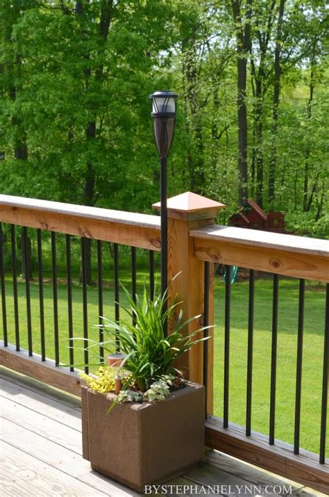 how to make planter boxes for deck railing woodworking