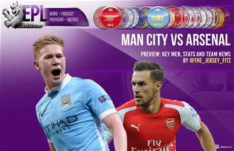 epl news man city manchester city vs arsenal preview team news stats