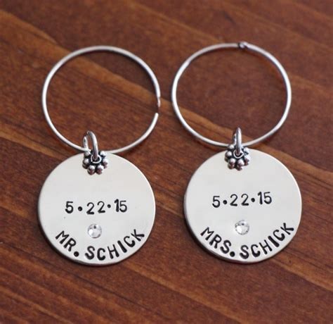personalized wedding toast wine charms kandsimpressions