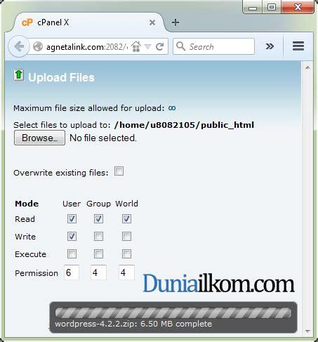 wordpress tutorial upload file upload file wordpress ke cpanel duniailkom