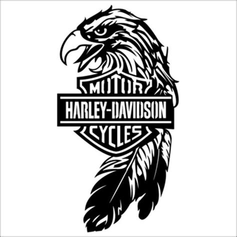 Cutting Sticker Harley Davidson 3 harley davidson eagle product laptop car truck vinyl decal