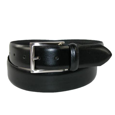 mens italian leather 1 3 8 inch padded dress belt by sharp