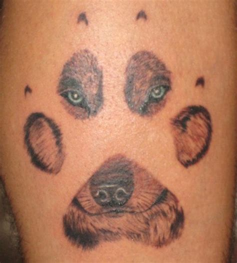 dog print tattoo tatto paw print tattoos