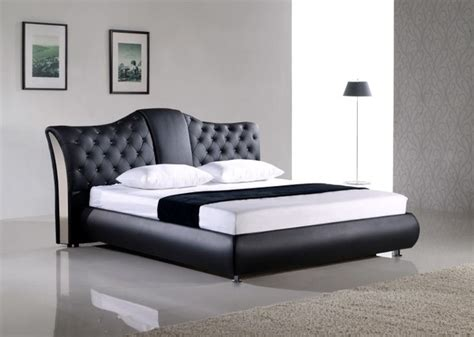 Modern Black Bed Frame Kontro Signature Leather Bed Frame Modern Beds By Defysupply