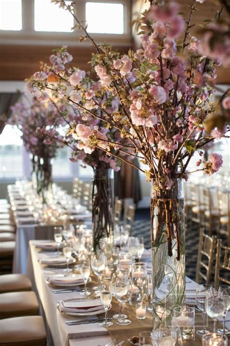 cherry blossom arrangements east to west spring wedding flowers guide onewed