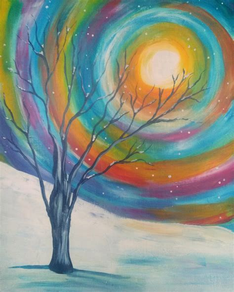 painting for free ardenwald event jan 8 winter tree