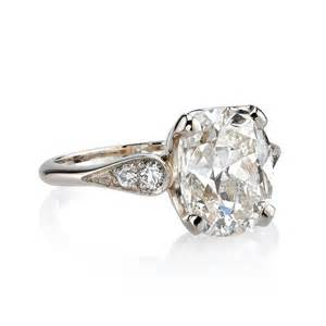 3 Carat Cushion Cut 3 72 Carat Cushion Cut Gold Ring At 1stdibs