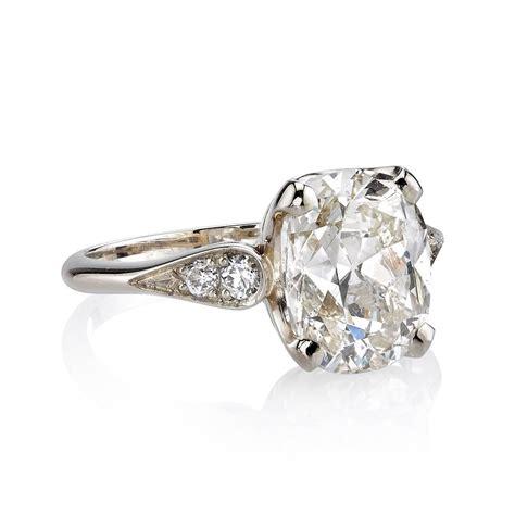 engagement rings cushion cut 2 carat 3 72 carat cushion cut gold ring at 1stdibs