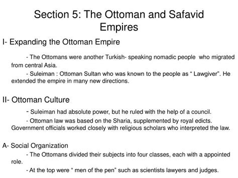 the ottoman central government appointed officials called ppt chapter 11 the muslim world by kristina giambrone