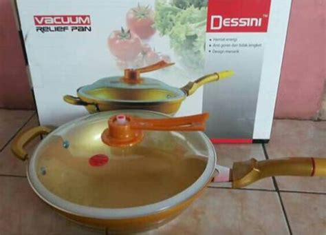 Panci Dessini panci golden dessini wokpan semi presto 2in1 panci emas