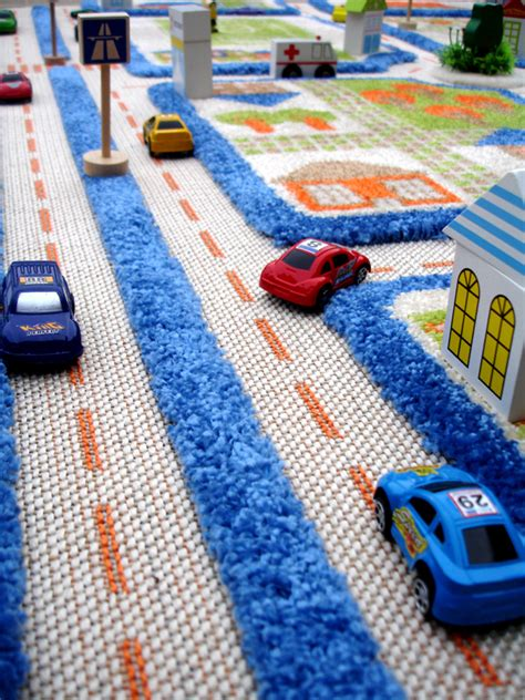 play rug for traffic blue 3d play carpet