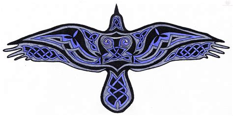 celtic raven tattoo blue ink celtic design