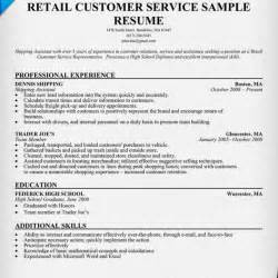 customer service rep sle resume sales customer service representative resume