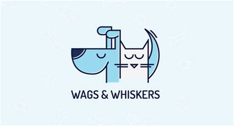 wags and whiskers pet boutique 35 pet logo designs used by and cat business