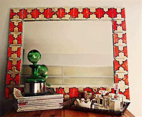 Tiled Moroccan Mirror   crafts.   Moroccan mirror, Diy