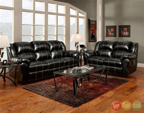 geneva black bonded leather casual living room set black bonded leather casual motion sofa set living room