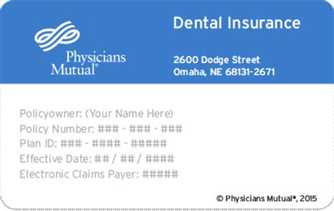 dental provider from physicians insurance company