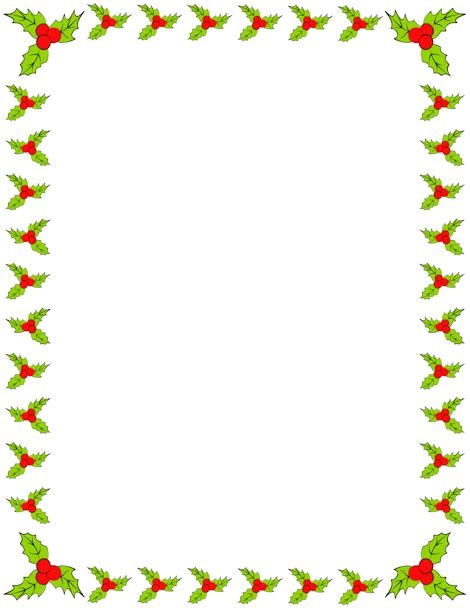 christmas themed borders holiday themed border featuring holly free downloads at