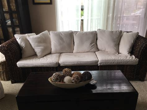 who manufactures pottery barn sofas letgo pottery barn seagrass roll arm sofa in encinitas ca
