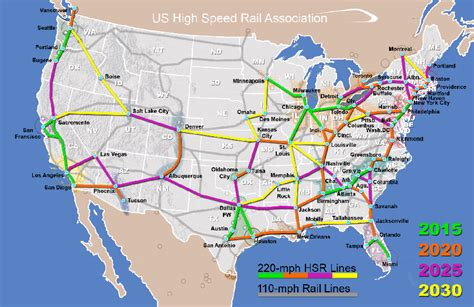 railroad map usa us high speed rail map