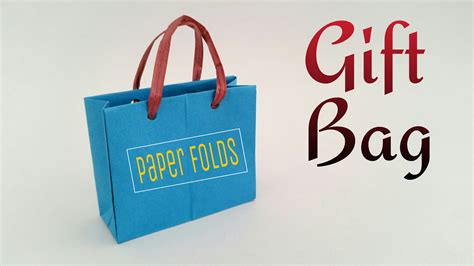 How To Make A Paper Shopping Bag - how to make a paper quot gift shopping bag quot useful origami