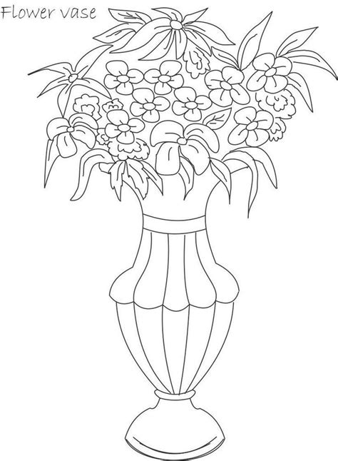 coloring pages of flowers in a pot flower pot coloring page coloring home