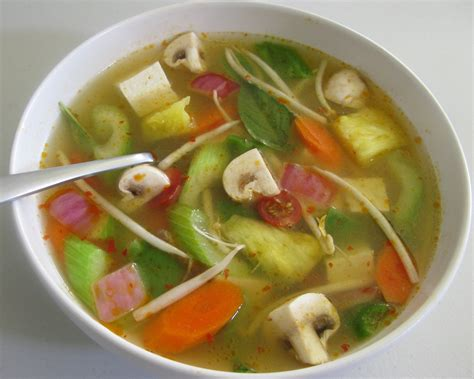 vegetarian and sour soup recipe thai and sour soup vegetarian