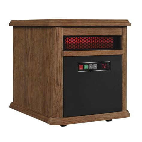 duraflame electric heater with remote duraflame 1500 watt 6 element infrared quartz electric