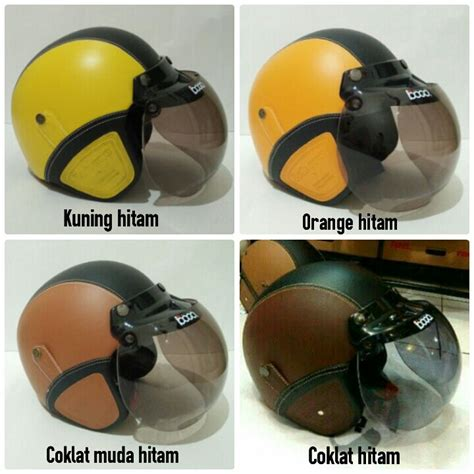 Helm Bogo Jpn Retro Klasik Meme Kimoni Lucu Polkadot Black Doff jual helm bogo kulit original di indonesia katalog or id