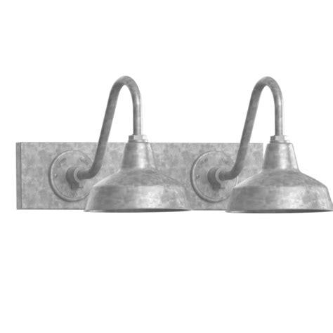 galvanized bathroom light fixtures austin gooseneck 2 light vanity light fixture barn light