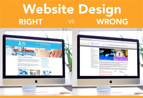 website design free uk infographic website design right vs wrong xpand marketing
