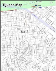 Tijuana Mexico Map by Maps Of Tijuana