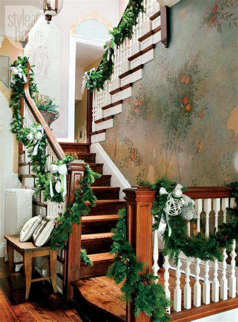 Stairs Decorations | 100 awesome christmas stairs decoration ideas digsdigs