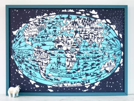 Prints Spotted In World by Spotted Yet Lovely World Map Print Littlestuff