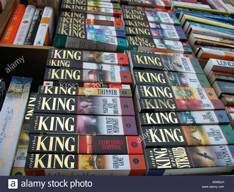 the king a novel books stephen king novels on a book shelf in a shop stock photo