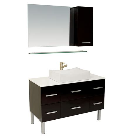 25 Inch Vanity 43 25 Inch Espresso Modern Bathroom Vanity With Mirror Side Cabinet Uvfvn6123es43