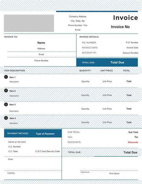 services invoice form our author has been published simple and