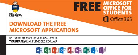 Microsoft Office For Students Free by Current Students Flinders